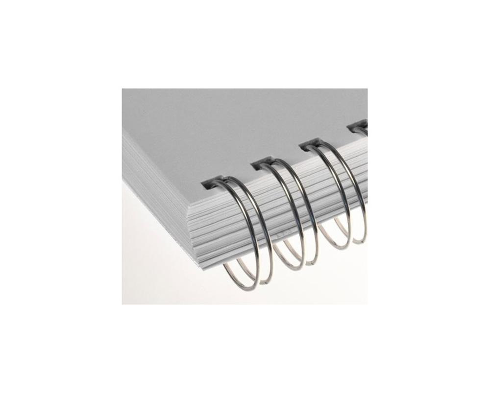 Ibiwire - Anneaux métalliques A4 21 boucles pas de 14,28