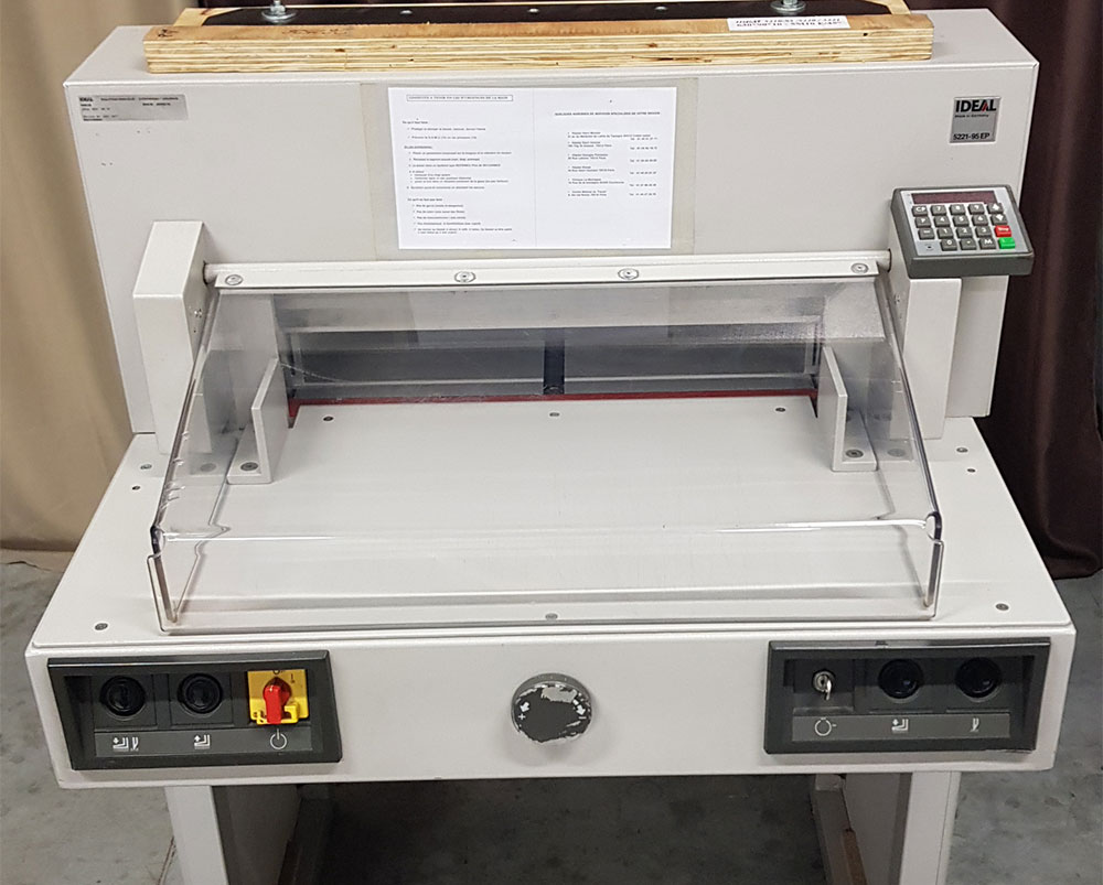 Massicot IDEAL 5221-95 EP + Tables latérales
